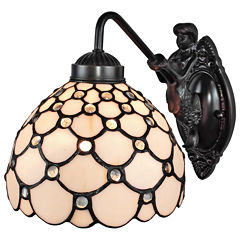 Amora Lighting AM110WL08 Tiffany Style Wall Lamp 8In Wide