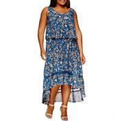Boutique + Sleeveless Maxi Dress-Plus
