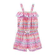 OshKosh B'gosh® Sleeveless Print Cotton Romper - Preschool Girls 4-6x