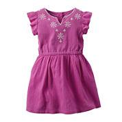 Carter's® Flutter-Sleeve Dress - Toddler Girls 2t-5t
