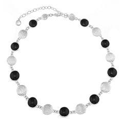 Gloria Vanderbilt Womens Black Collar Necklace