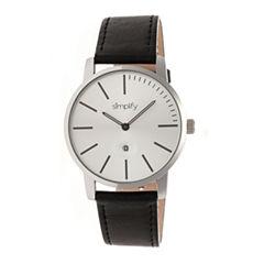 Simplify The 4700 Unisex Black Strap Watch-Sim4701