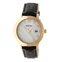 Bertha Eden Womens Black Strap Watch-Bthbr6504