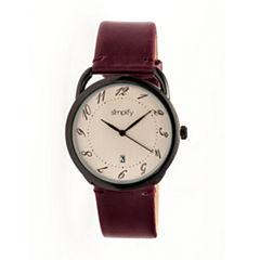 Simplify The 4900 Unisex Purple Strap Watch-Sim4904