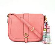 Liz Claiborne Jenny Flap Saddle Crossbody Bag