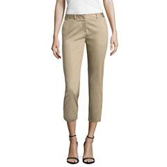 Worthington Sateen Cropped Pants-Talls