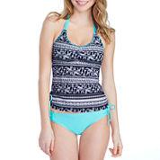 Arizona Pattern Tankini Swimsuit Top-Juniors