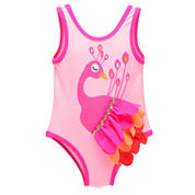 Candlesticks Peacock Girls One Piece Swimsuit-Baby