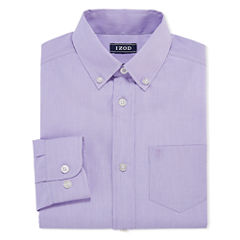 IZOD Long Sleeve Woven Dress Shirt - Big Kid Boys