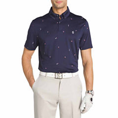 IZOD Golf Print Short Sleeve Polo Shirt