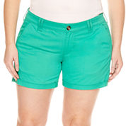 Arizona Twill Shorts - Juniors Plus