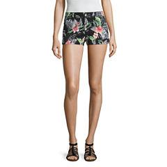 Arizona Black Floral Shorts-Juniors