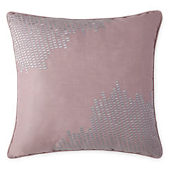 Liz Claiborne Blush Floral Square Throw Pillow