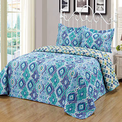 Journee Home 3 pc Reversible Bedspread Set