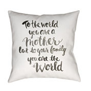 Decor 140 A Family'S World Square Throw Pillow