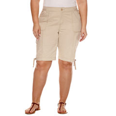 St. John's Bay® Bermuda Shorts - Plus (11.5