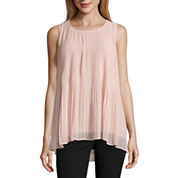 Worthington Sleeveless Scoop Neck Woven Blouse