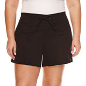 Boutique + Woven Cargo Shorts - Plus