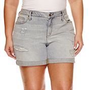 a.n.a Denim Shorts-Plus
