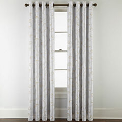 Royal Velvet® Plaza Embroidery Blackout Grommet-Top Curtain Panel