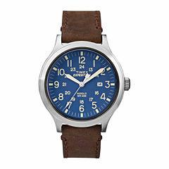 Timex 100 Mens Brown Strap Watch-TW4B064009J