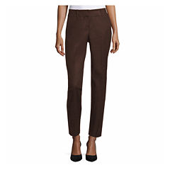 Worthington Curvy Fit Slim Pants-Talls