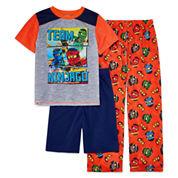 Boys 3-pc. Short Sleeve Lego Kids Pajama Set-Big Kid