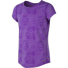 New Balance Short Sleeve T-Shirt-Big Kid Girls