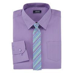 IZOD Shirt + Tie Set - Big Kid Boys