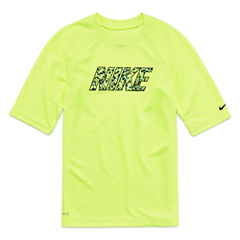 Nike Boys Solid Rash Guard-Big Kid