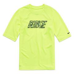 Nike Boys Solid Rash Guard-Big Kid