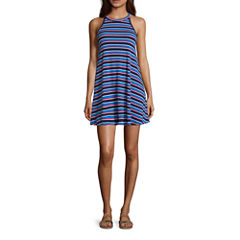 Arizona Sleeveless Swing Dresses-Juniors