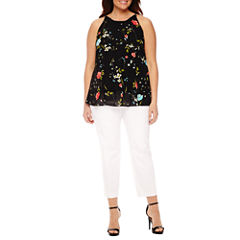 Worthington® Sleeveless Layered Blouse or Slim Fit Ankle Pants - Plus