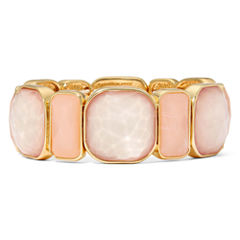 Monet® Pink and Gold-Tone Stretch Bracelet