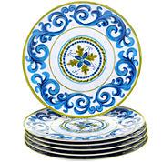 Certified International Blue Grotto Set of 6 Melamine Dinner Plates