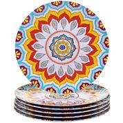 Certified International Akela Set of 6 Melamine Dinner Plates