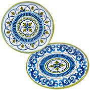Certified International Blue Grotto 2-pc. Melamine Platter Set