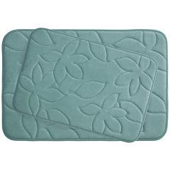 Bounce Comfort Blowing Leaves 2-pc. Memory Foam Bath Mat Set
