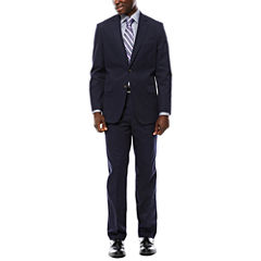 Stafford® Navy Cotton Suit Separates - Classic Fit
