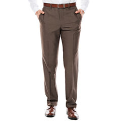 JF J. Ferrar® Taupe End on End Slim-Fit Pants
