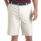 IZOD® Oxford Flat-Front Cotton Shorts