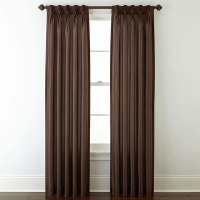 Royal Velvet® Encore Pinch Pleat/Back Tab Curtain Panel