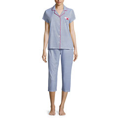 Laura Ashley 2-pc. Paisley Pant Pajama Set