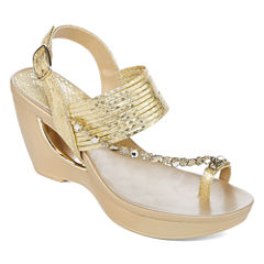 Andrew Geller Arriana Womens Wedge Sandals