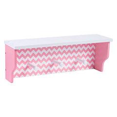 Trend Lab Pink Sky Wood Shelf