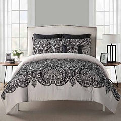 VCNY Flocked Paisley 7-pc. Comforter Set