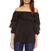 Bisou Bisou Ruffle Off The Shoulder Top