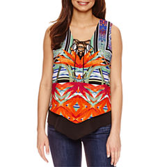 Bisou Bisou Lace Up Tiered Top