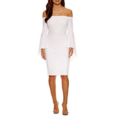 Bisou Bisou Smocked Off The Shoulder Bodycon Dress