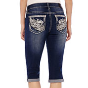 ZCO Bling Wings Cropped Jeans - Petite